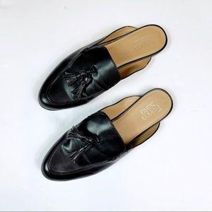 Franco Sarto Prentice Mule Tassle Loafer Black